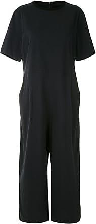 Osklen short-sleeved wide-leg jumpsuit - Blue