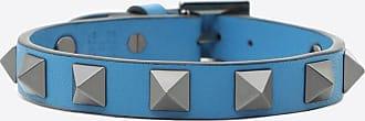 Valentino Garavani Valentino Garavani Uomo Rockstud Bracelet Man Azure Calfskin 100% OneSize