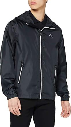 Calvin Klein Jeans Mens Zip Through HD Jacket, Black (Ck Black Bae), Medium (Size:M)
