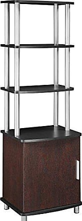 Dorel Home Products Ameriwood Home Carson Audio Stand, Cherry/Black