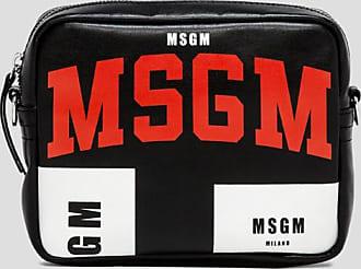 Msgm iconic logo print shoulder bag