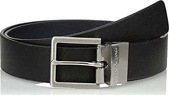 43ec605d3641 A X Armani Exchange Armani Exchange Mens Skinny Leather Belt Accessory,  black navy