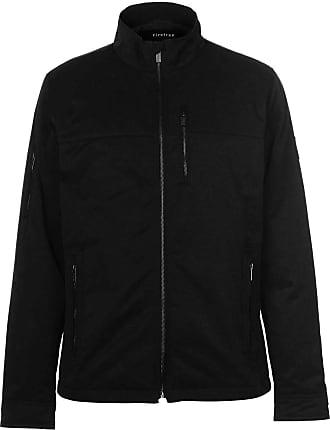 Firetrap Mens Langton Jacket Bomber Coat Top Long Sleeve High Neck Zip Full Black XXXL