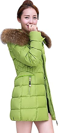 Isshe Hooded Long Coats for Women Womens Winter Bubble Coat with Faux Fur Hood Padded Quilted Puffa Jacket Ladies Puffer Coat Thicker Jackets Parka Coats Ov