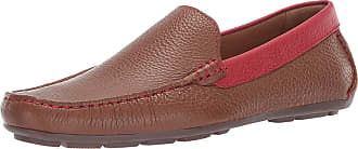 Driver Club USA Mens Leather Made in Brazil San Diego Loafer Driving Style, Cognac Grainy, 10 M US