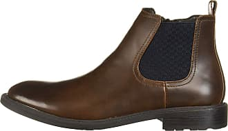 Unlisted by Kenneth Cole Unlisted by Kenneth Cole Mens Roll Chelsea Boot, Brown, Size 10.5