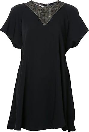 Ellery Camiseta com detalhe xadrez - Preto
