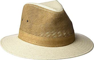 c8605c157bebd Tommy Bahama Mens Perforated Leather Safari Hat