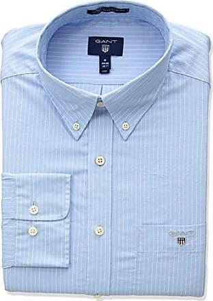 5fae43cb402 GANT Mens The Broadcloth Pinstripe Regular Fit Button Down Shirt, Capri Blue,  S