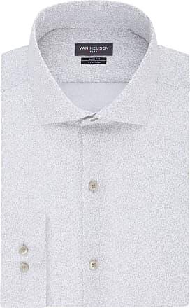 Van Heusen Mens Flex Collar Stretch Dress Shirt, Gravel, XX-Large