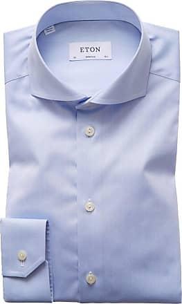 Eton Oberhemd, Super Slim Fit von Eton in Hellblau für Herren