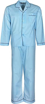 """NEW CHAMPION MENS 2 PACK NAVY PALE BLUE PYJAMA TROUSERS SIZE LARGE 36""""-38"""""""