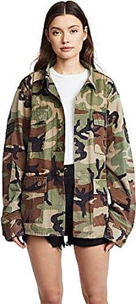 Kendall + Kylie Womens Open Back Jacket, camo Print, Extra Small/Small