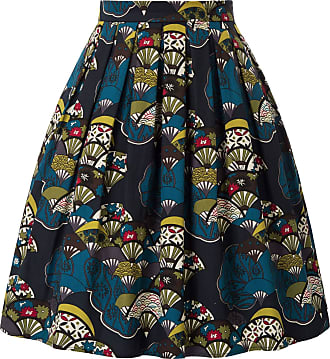 Grace Karin Floral Skirt for Women Summer 50s Rockabilly Vintage A-line Pleated Party Prom Skirt CL6294-42 XXL