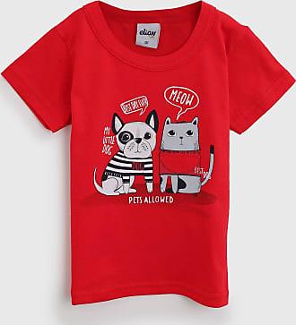 Elian Camiseta Elian Infantil Bichos Vermelha