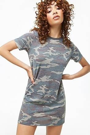 Forever 21 Forever 21 Camo Print T-Shirt Dress Olive/black