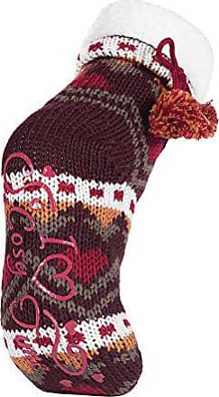 Damen winter anti rutsch abs stoppersocken hausschuhe pantoffeln bunt muster in 6 farbig Jennifer Anderton