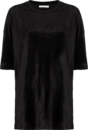 Ninety Percent T-shirt oversize con girocollo - Di colore nero