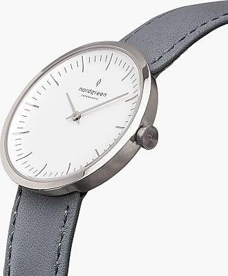 Nordgreen Infinity - Silver | Grey Leather - 32mm / Silver