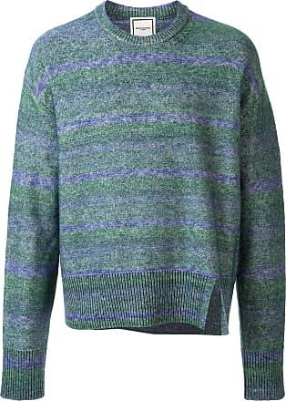 Wooyoungmi Suéter de tricô com listras - Azul
