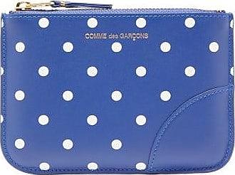 Comme Des Garçons Comme Des Garçons Wallet - Polka-dot Leather Coin Purse - Womens - Navy Multi
