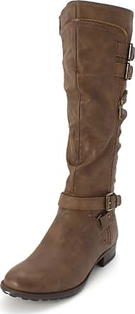 White Mountain Womens Remi Round Toe Knee High, Brown/Burnished Smooth, Size 7.0 US