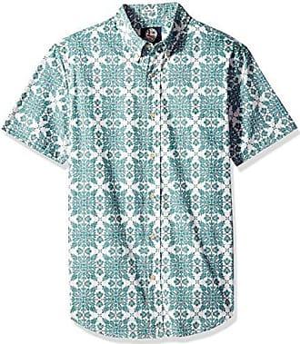 c4c0e0b4a Reyn Spooner Mens Christmas Quilt Tailored Fit Hawaiian Shirt, Mint, L