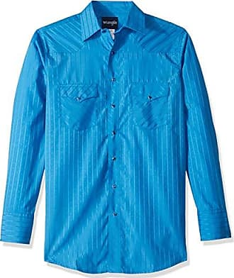 5999d0cb924 Wrangler Mens Size Tall Sport Western Snap Shirt in Dobby Stripe