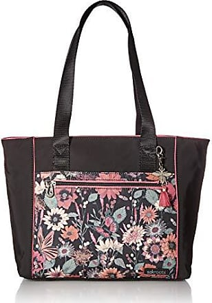 Sakroots Womens New Adventure Andes Small Travel Tote, Graphite IN BLOOM, One Size
