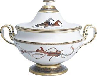 Hermès Hermes Cheval Dorient Porcelain Soup Tureen