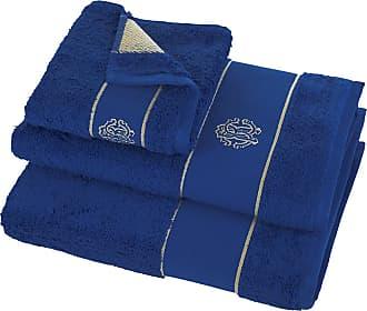 Roberto Cavalli Gold Towel - Blue - Guest Towel