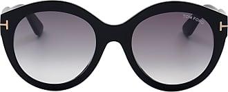 Tom Ford Eyewear Óculos de Sol Redondo Preto - Mulher - 54 US