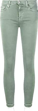 7 For All Mankind Calça skinny cropped - Verde