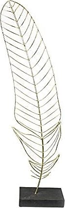 Sagebrook Home 11236 Feather Sculpture On Base, Gold Metal, 9 x 3.25 x 28 Inches
