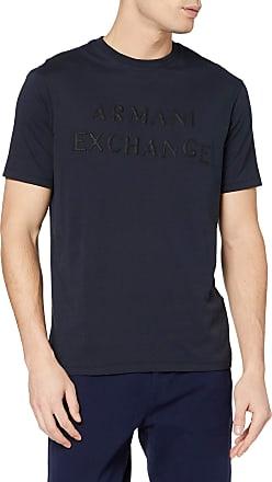 A X Armani Exchange Mens Touch-me Logo T-Shirt, Blue (Navy 1510), Medium