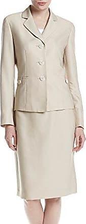 Le Suit Womens 1 Button V-Neck Crepe Skirt Suit
