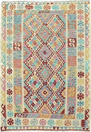 Nain Trading 184x131 Kilim Afghan Heritage Rug Beige/Blue (Afghanistan, Handwoven, Wool)