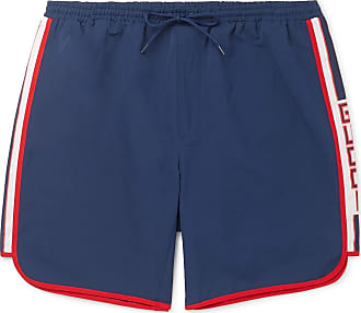 9d9d7089ab Gucci Short-length Grosgrain-trimmed Swim Shorts - Navy