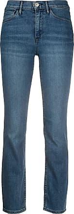 3x1 Calça jeans reta cintura média - Azul