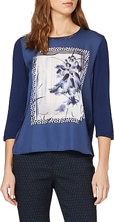 Gerry Weber Womens 270284-35084 Long Sleeve Top, Multicolour (Blue Multicolor Druck 8101), 16 (Size: 42)