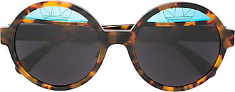 Italia Independent round framed sunglasses - Marrom
