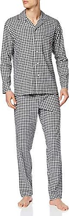 HOM Pyjama Set Vichy Herren hochwertige Schlafmode Long Woven Sleepwear
