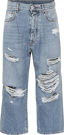 Unravel Cropped high-rise straight jeans