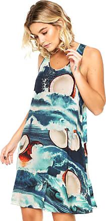 Lez a Lez Vestido Lez a Lez Curto Rayon Bali Azul
