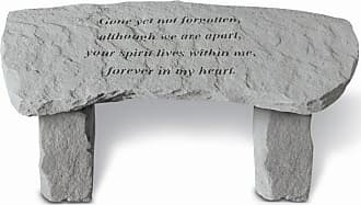 Kay Berry Outdoor Kay Berry Gone Yet Not Forgotten Small Memorial Bench - 29 in. Cast Stone - 35920