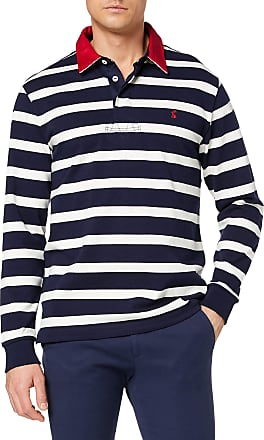 Joules Mens Onside Polo Shirt, Multicolour (Navy Cream Stripe Nvycrmstrp), Small (Size:S)