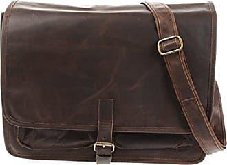 23467cae5367a Leconi Businesstasche Unisex DIN A4 Messenger Bag Vintage-Look echt Leder  Aktentasche große Collegetasche Damen