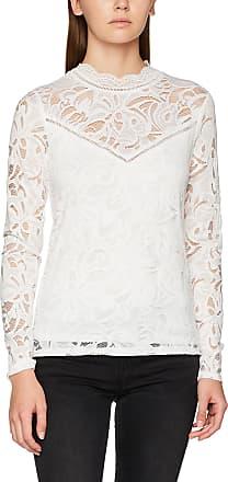 Vila Womens Vistasia L/S Lace Noos Long Sleeve Top, White (Cloud Dancer Cloud Dancer), 42 (Manufacturer size: X-Large)
