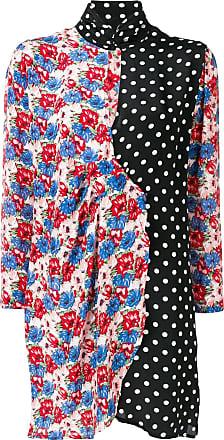 Rixo Vestido Cherie de seda floral - Preto