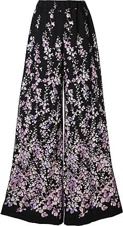 Ingie Paris Calça com estampa floral - Preto